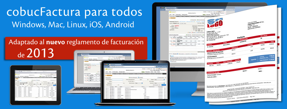 Cobuc Factura para todos: Windows, Mac, Linux, iOS, Android